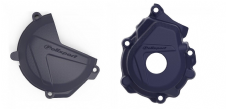 New Husqvarna FC 250 350 16 17 18 Clutch Ignition Cover Protector Combo Blue